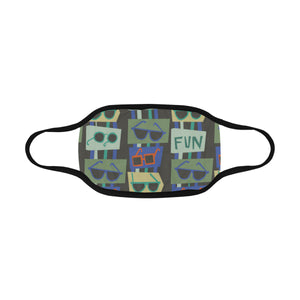 Sunglasses Fun Custom Fabric Dust Mask (15 Filters Included) - Pitgnarf Shops