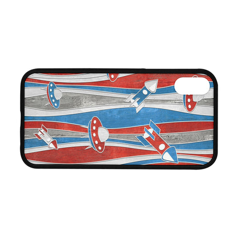 "Image of Rubber iPhone XR (6.1"") Case, america usa space rocket"