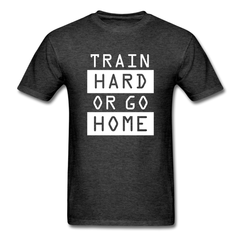 Train Hard T-shirt, Free Shipping, Fruit of the Loom - heather black