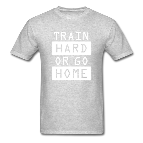 Train Hard T-shirt, Free Shipping, Fruit of the Loom - heather gray