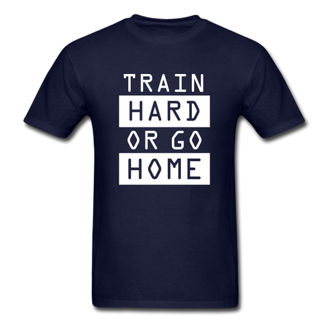 Train Hard T-shirt, Free Shipping, Fruit of the Loom - navy