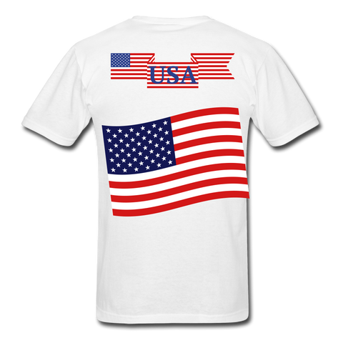 Image of Classic American T-Shirts 2 sided, Free Shipping - white