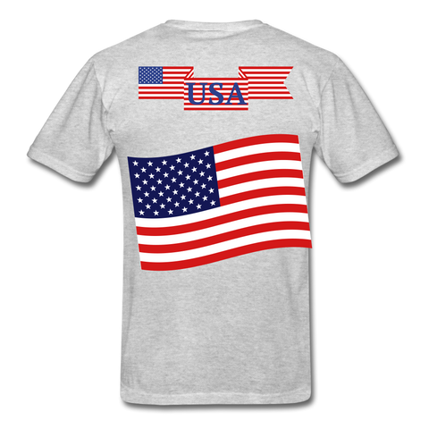Image of Classic American T-Shirts 2 sided, Free Shipping - heather gray
