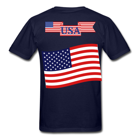 Classic American T-Shirts 2 sided, Free Shipping - navy
