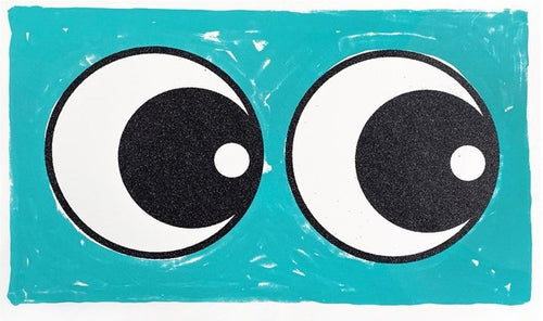 Adam Bridgland - Making Eyes Across The Room (Turquoise Glitter) - Edition of 50