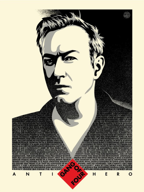 Shepard Fairey ( Obey ) - Andy Gill Anti-Hero - Edition of 400