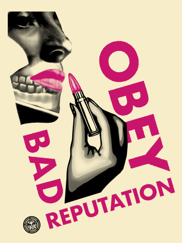 Shepard Fairey ( Obey ) - Bad Reputation Cream Version  - Edition of 350