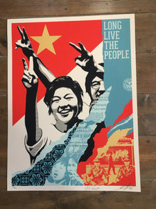 Shepard Fairey ( Obey ) - Long Live The People - Edition of 500