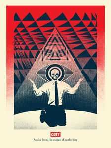 Shepard Fairey dit Obey - Conformity Trance Red - Edition of 350