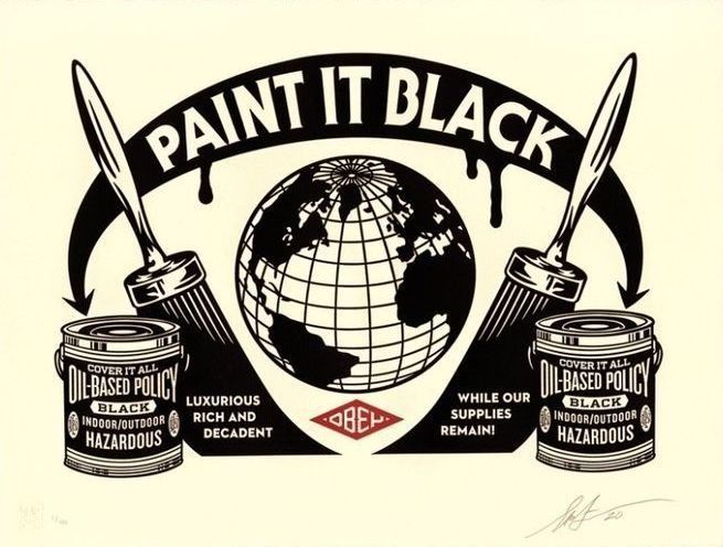Shepard Fairey ( Obey ) - Paint It Black - Edition of 450