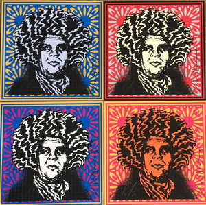 Shepard Fairey ( Obey ) X John Van Hamersveld - Psychedelic Andre - Edition of 419