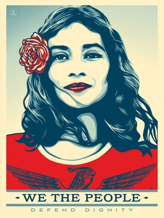 Shepard Fairey (OBEY) - We The People Defend Dignity - Edition Offset -Signed
