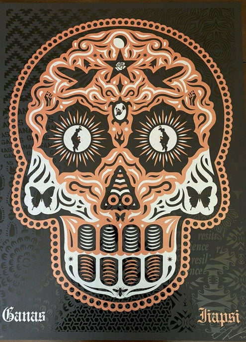 Ernesto Yerena - Yaqui Day Of The Dead Copper Silver  - Edition Of 300