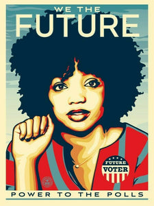Shepard Fairey ( Obey ) - Power To The Polls - Edition of 450