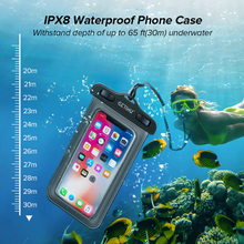 Load image into Gallery viewer, Waterproof phone pouch for kitesurfing