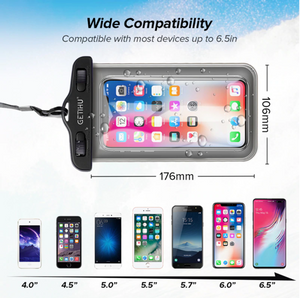 Waterproof phone case for kitesurfing