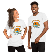 Load image into Gallery viewer, Life Begins at 20 Knots Sunset - 100% cotton Kitesurfing T-shirt