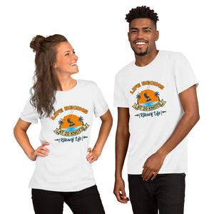 Life Begins at 20 Knots Sunset - 100% cotton Kitesurfing T-shirt