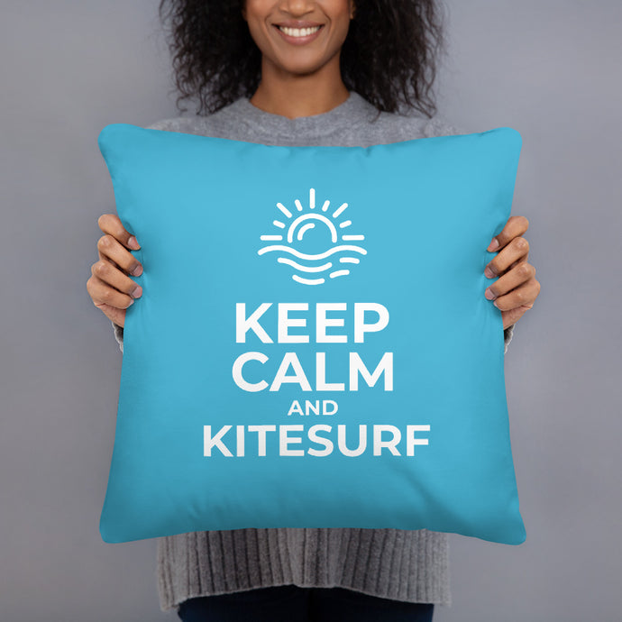 Keep Calm and Kitesurf - Kitesurfing Cushion