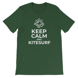 Keep Calm and Kitesurf - 100% cotton Kitesurfing T-shirt
