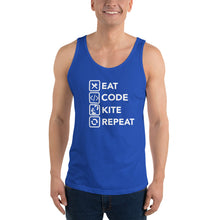 Load image into Gallery viewer, Eat Code Kite Repeat - Unisex Kitesurfing Singlet