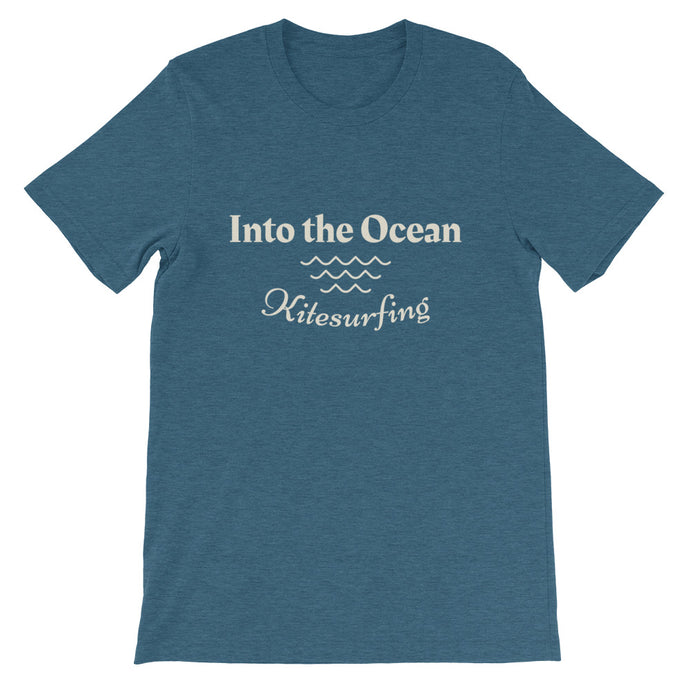Into the Ocean - 100% cotton Kitesurfing T-shirt