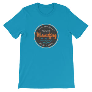 Living the Dream Logo - 100% cotton Kitesurfing T-shirt