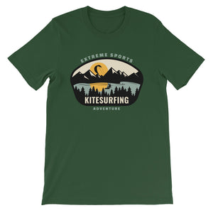 Kitesurfing Mountains - 100% cotton Kitesurfing T-shirt