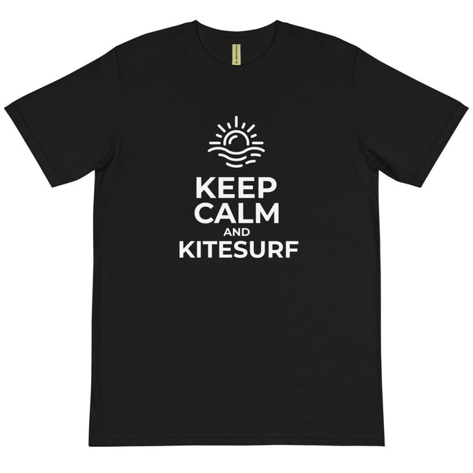Keep Calm and Kitesurf - 100% Organic Cotton Kitesurfing T-shirt