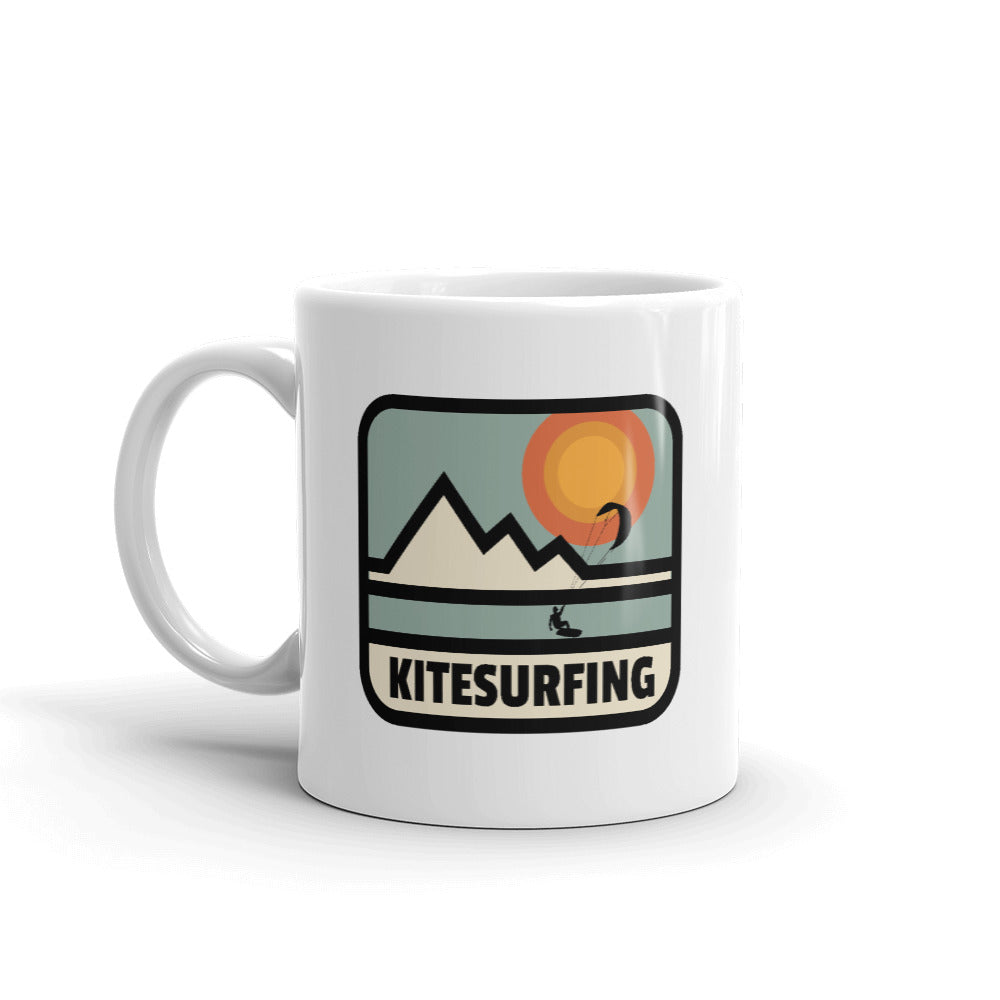 Kitesurfing Mountain Retro Mug