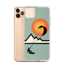 Load image into Gallery viewer, Mountain Kitesurfing Sunset - iPhone Case (BPA free)