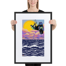 Load image into Gallery viewer, Patagonia Sunset Kitesurfer - Framed Matte Paper Poster