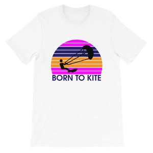 Born to Kite Electrosunset - 100% cotton Kitesurfing T-shirt