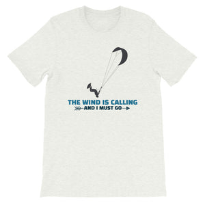 Wind is Calling - 100% cotton Kitesurfing T-shirt