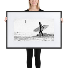 Load image into Gallery viewer, Winter Kitesurfer - Framed matte paper poster