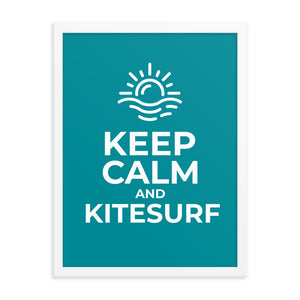 Keep Calm and Kitesurf - Framed poster