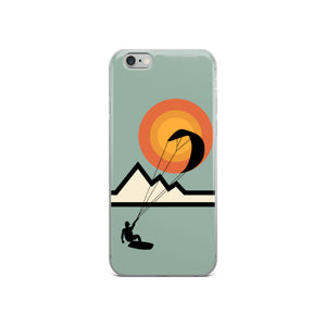 Mountain Kitesurfing Sunset - iPhone Case (BPA free)