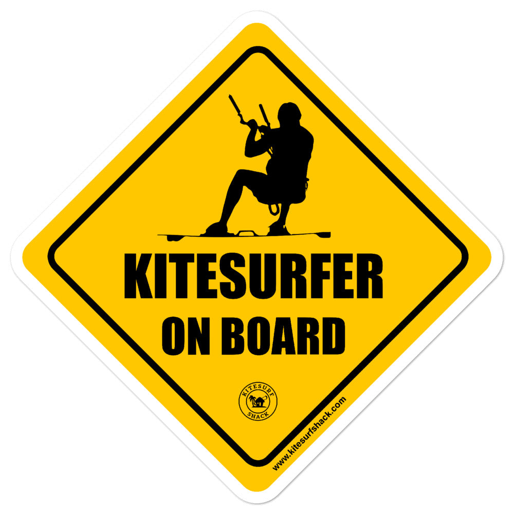 Kitesurfer on Board - Kitesurfing Sticker