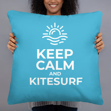 Load image into Gallery viewer, Keep Calm and Kitesurf | Kitesurfing Cushion