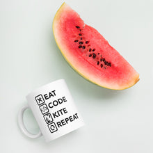 Load image into Gallery viewer, Eat Code Kite Repeat - Kitesurfing Mug