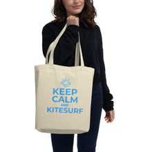 Load image into Gallery viewer, Keep Calm and Kitesurf - Eco Tote Bag