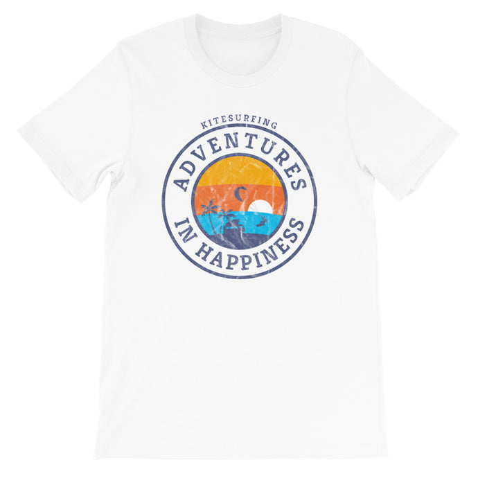 Adventures in Happiness - 100% cotton Kitesurfing T-shirt