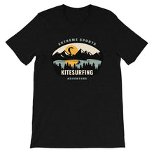 Load image into Gallery viewer, Kitesurfing Mountains - 100% cotton Kitesurfing T-shirt