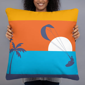 Kitesurfing Sunset Cushion/Pillow (Surfboard Edition)