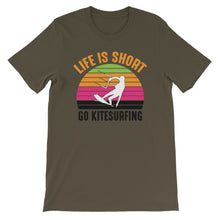 Load image into Gallery viewer, Life is Short - 100% cotton Kitesurfing T-shirt