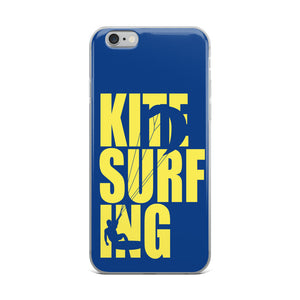 Kitesurfing Neon - iPhone Case