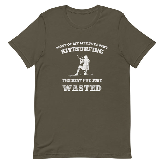 Wasted Life Kitesurfing - 100% cotton Kitesurfing T-shirt