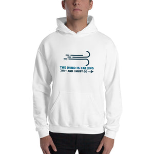 The Wind is Calling and I Must Go - Kitesurfing Hoodie