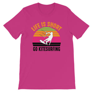Life is Short - 100% cotton Kitesurfing T-shirt