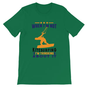 Thinking about Kitesurfing - 100% cotton Kitesurfing T-shirt